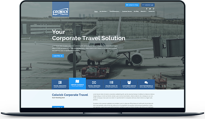 Colwick Travel Agency Website Design and Development in Calgary