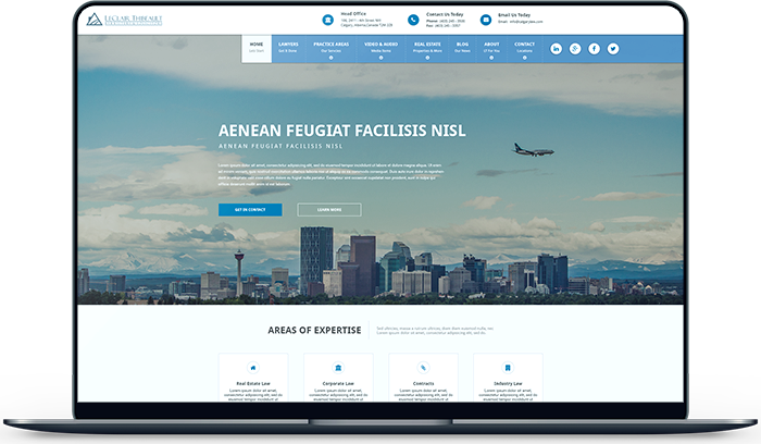 Redesigned and Developed Leclair Thibeualt Website. A Local Lawyer Firm in Calgary