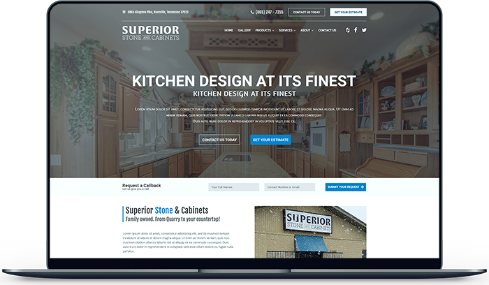 Superior Stone Tennessee Website Design