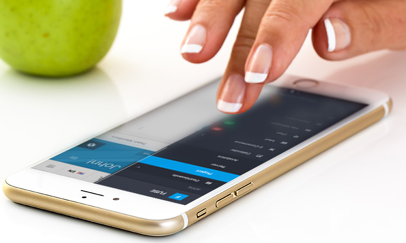 Website Maintenance Services in Calgary. A photo of a iphone showcasing a UX UI Design Calgary