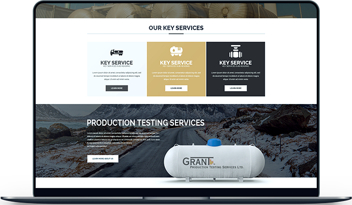 Oil & Gas Website Design Prototype