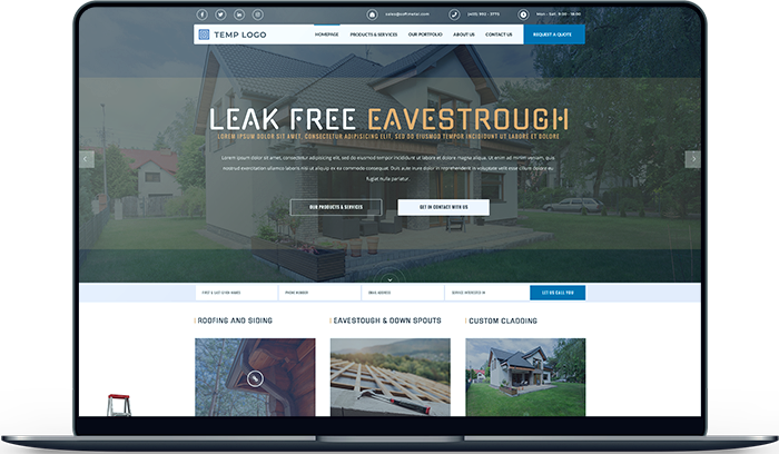 Soft Metal Roofing Website Design