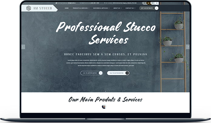 AM Stucco Web Design