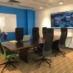 Ullaco Corp Boardroom with our BIG TV and whiteboard